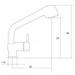 Однорычажный смеситель Kuppersberg Master KG2480 BLACK