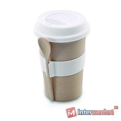 Кофейная кружка с ложкой,  Berghoff (2800056), бежевый