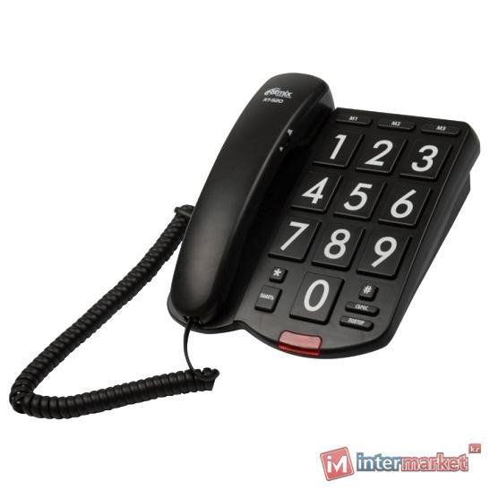 Телефон Ritmix RT-520, big numbers, black