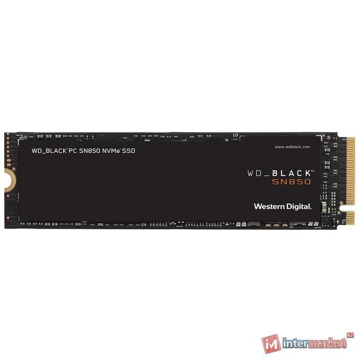 Твердотельный накопитель 1000GB SSD WD BLACK SN850 NVMe M.2 (2280) R7000Mb/s, W5300MB/s WDS100T1X0E