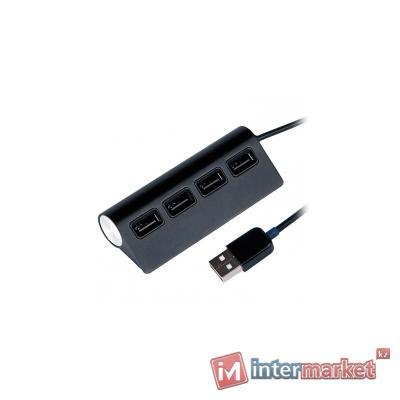 Концентратор USB Ritmix CR-2400, USB 2.0, черный